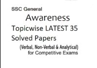 SSC General Awareness Topicwise LATEST 35 Solved Papers