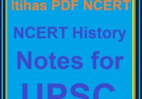 NCERT History Notes for UPSC